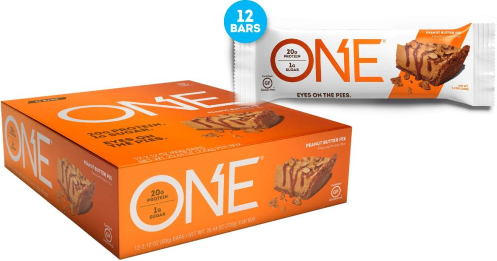 12-Pack of ONE Peanut Butter Pie Protein Bars
