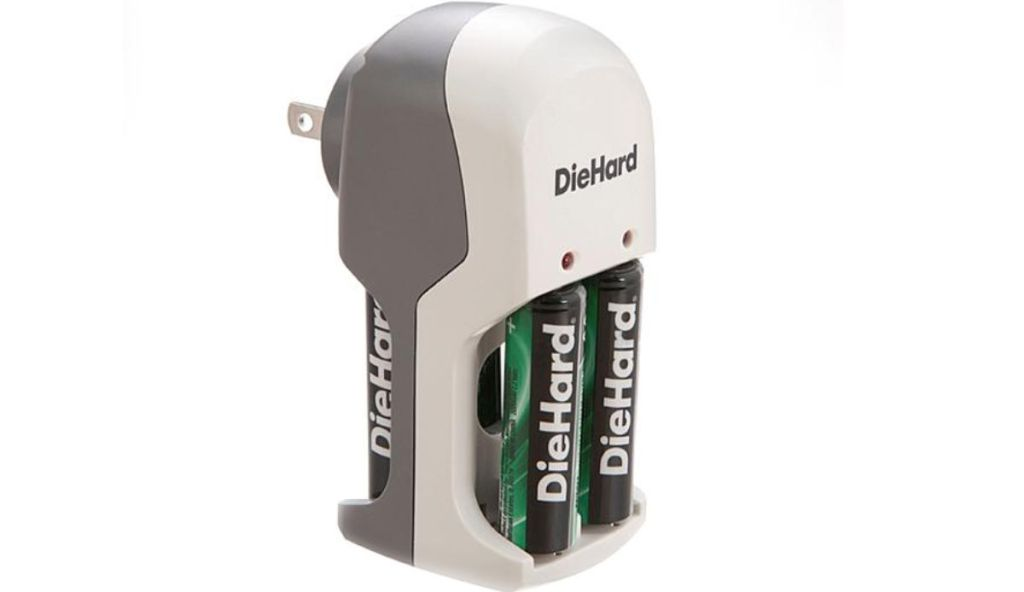 2-Count DieHard AA Ni-MH Rechargeable Batteries + DieHard Overnight Charger