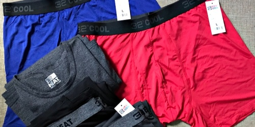 32 Degrees Men's Active Mesh Boxer Briefs as Low as $5 Each Shipped (Regularly $16)