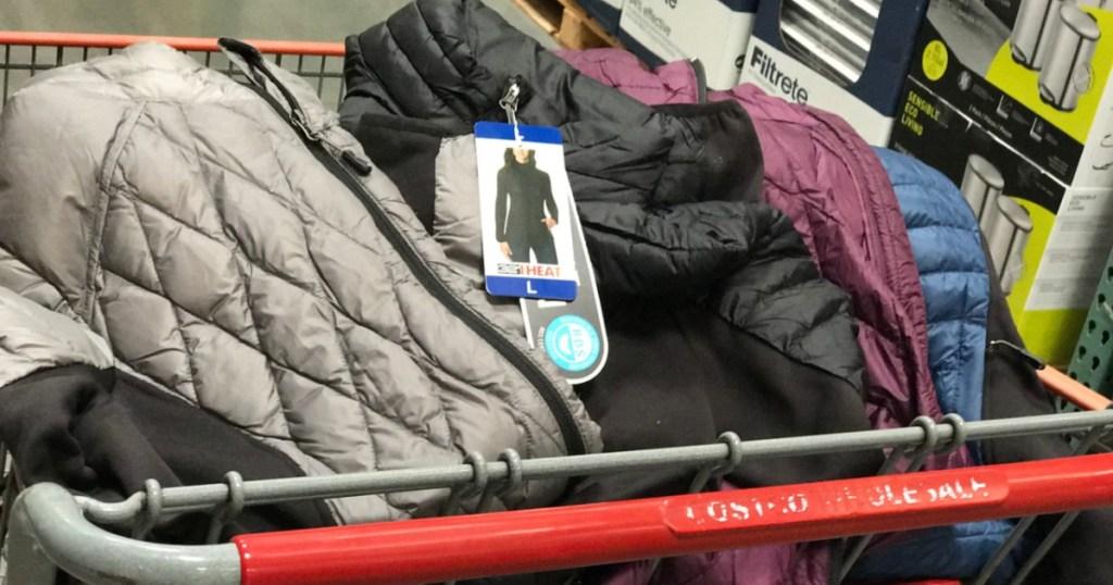32 Degrees Ladies' Mixed Media Jacket in shopping cart at Costco
