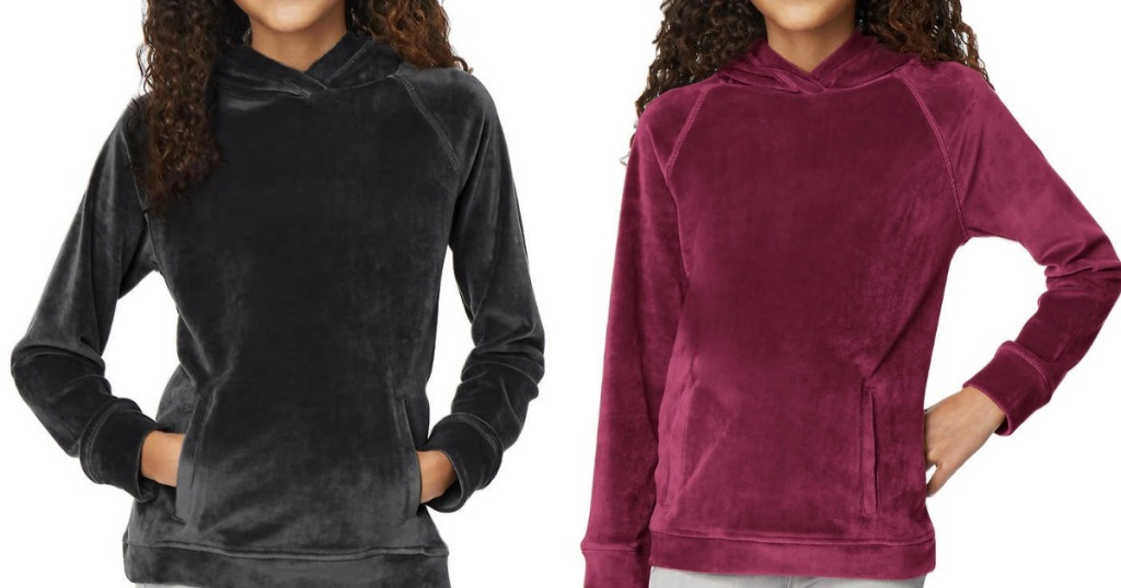 32 Degrees Youth Velour Pullover Hoodies