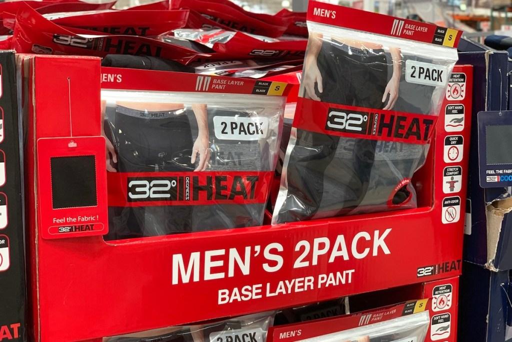 mens packs of 32 degrees thermal pants leggings