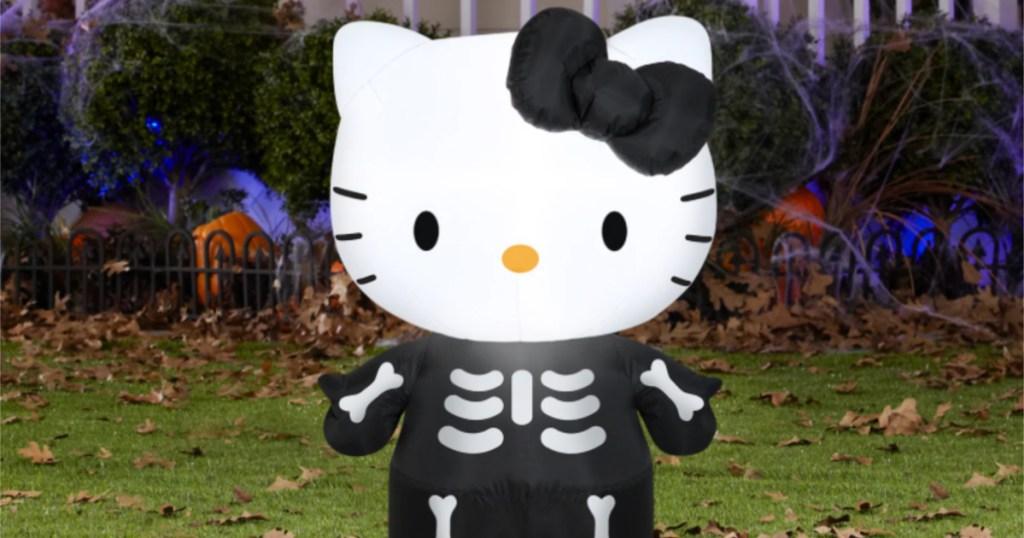 hello kitty halloween inflatable in yard
