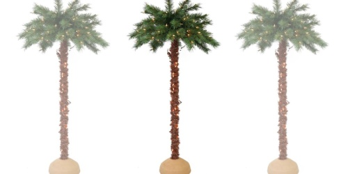 6-Foot Pre-Lit Palm Tree Only $69.99 Shipped | Fun Christmas Tree Alternative