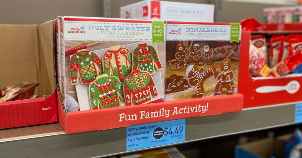 ALDI Crafty Cookie Kits on shelf at store