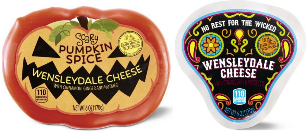 Halloween themed Wensleydale cheeses from ALDI