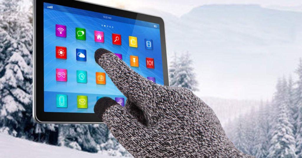 Knit Gloves Touchscreen