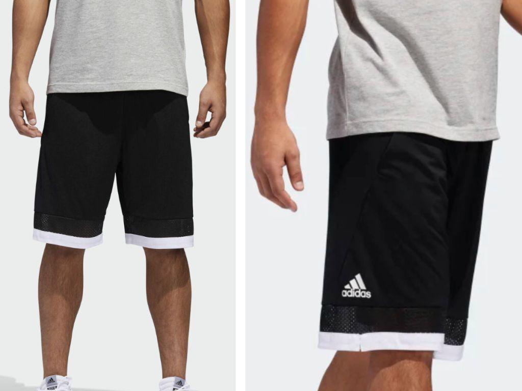 Adidas men pro bounce black shorts