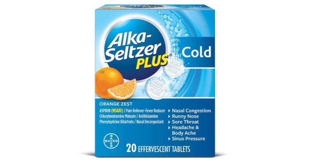 box of alka-seltzer plus