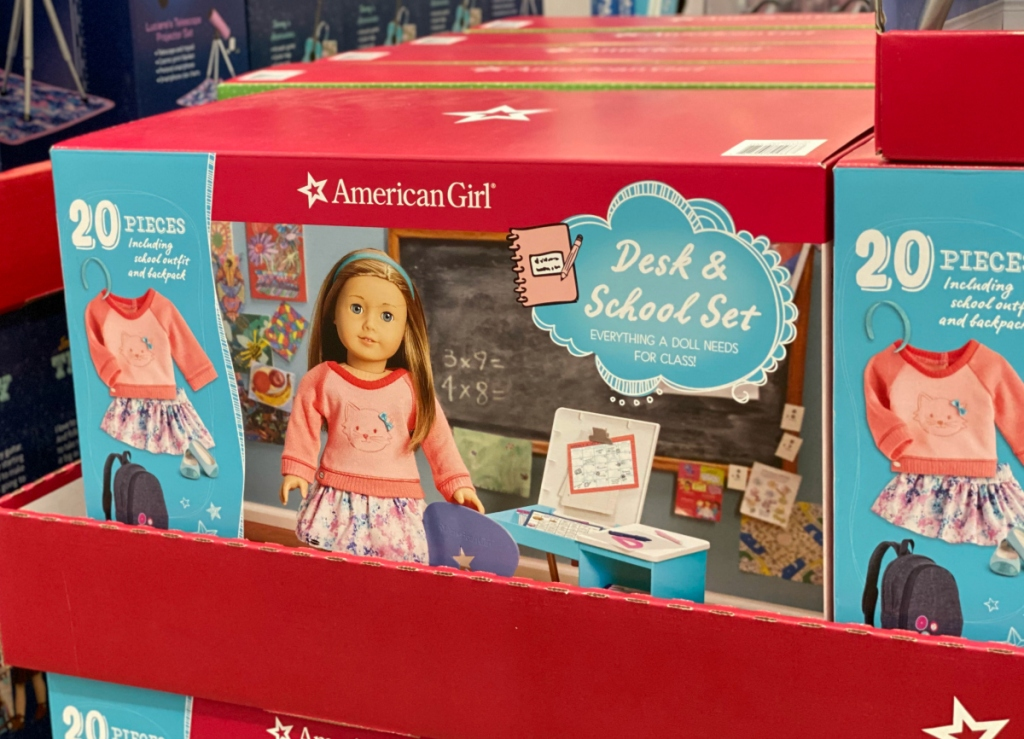 American Girl Desk & School Set