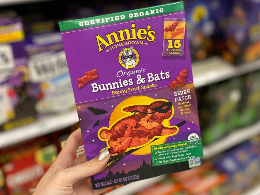 Annie's Bunnies & Bats Fruit Snacks 15 pack in hand in-store at Target
