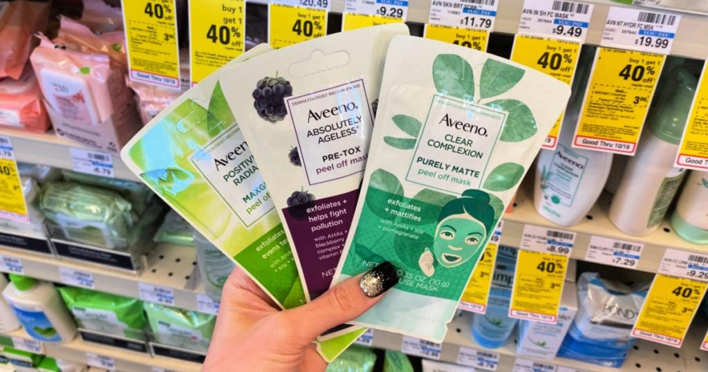 Aveeno Single Use Peel off Masks at CVS