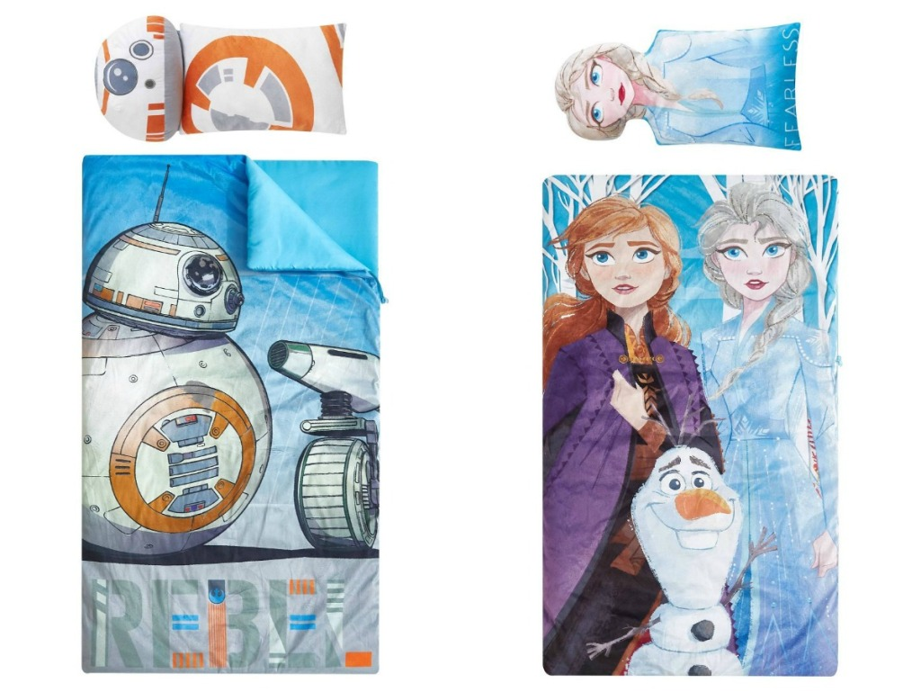BB-8 and Frozen sleeping bags