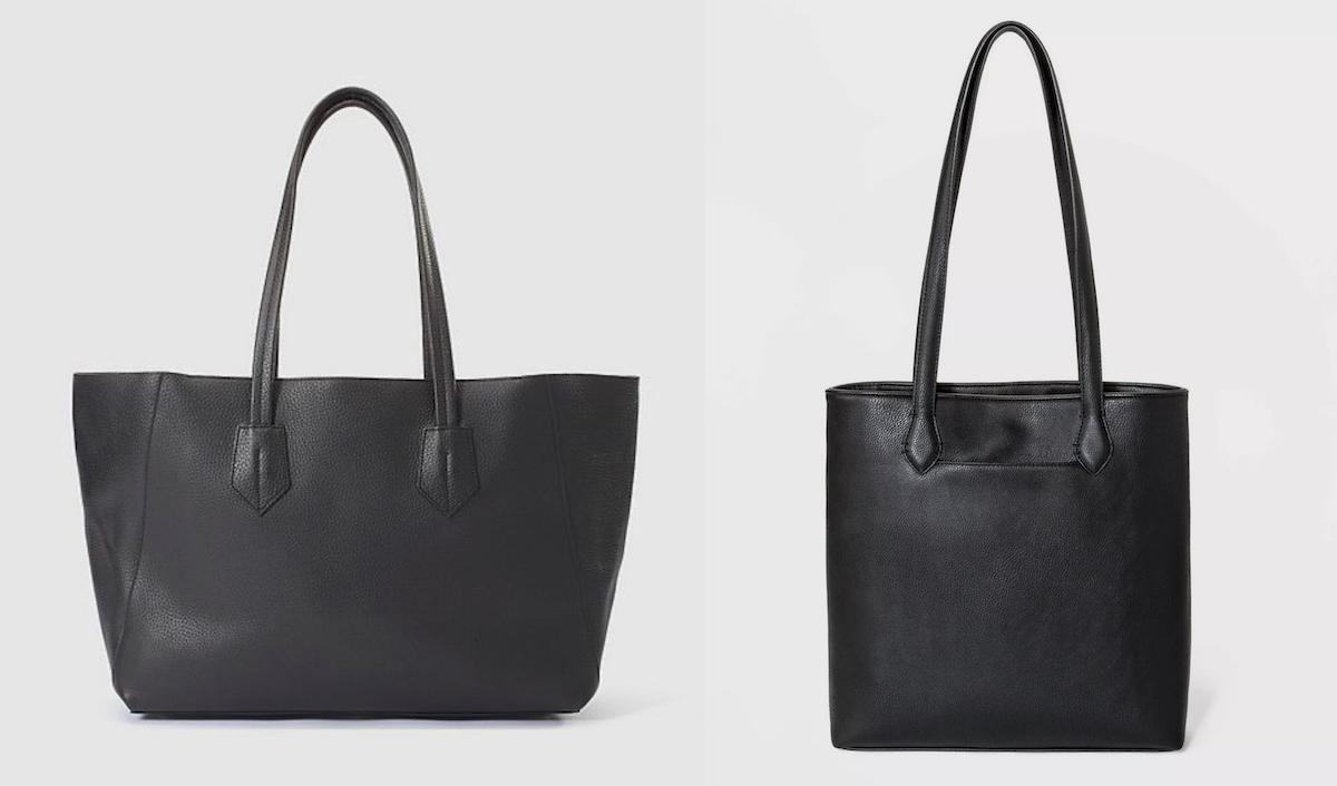 side by side of black satchel bags