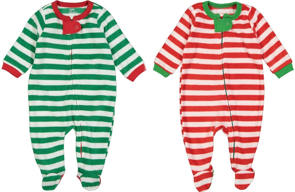 Baby Footie Pajamas in two styles