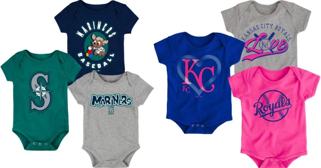 MLB baby bodysuits