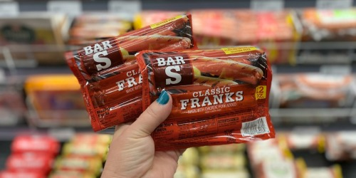 Bar-S Hot Dogs Packs Only 37¢ Each After Cash Back at Target