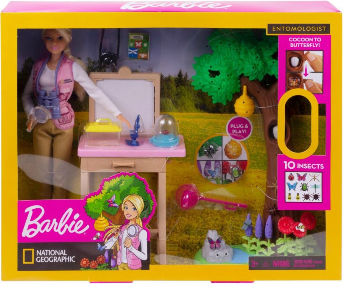 Barbie Entomologist Doll & Playset in package