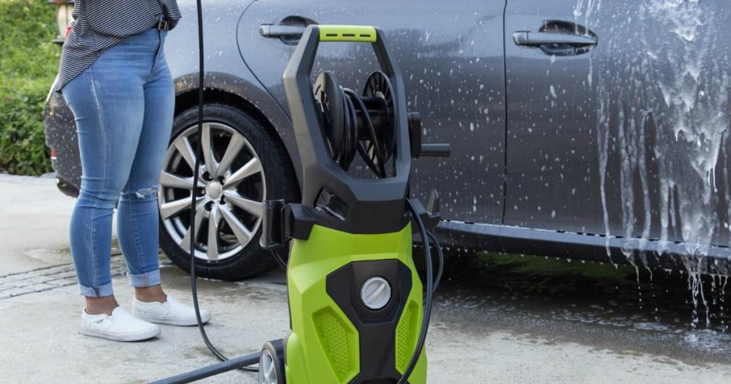 Best Choice Power Washer next to car