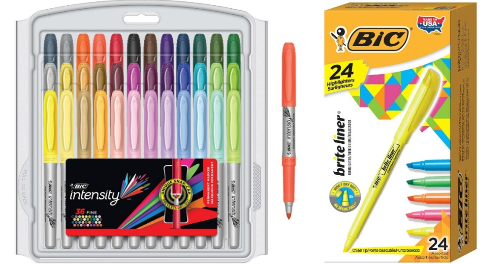 Bic Markers and Highlighters