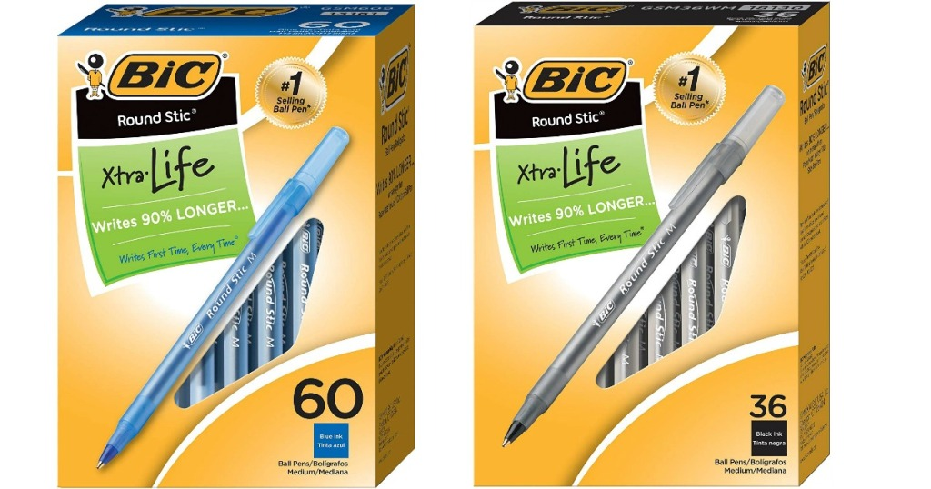 Bic Pens 60-count in black and blue
