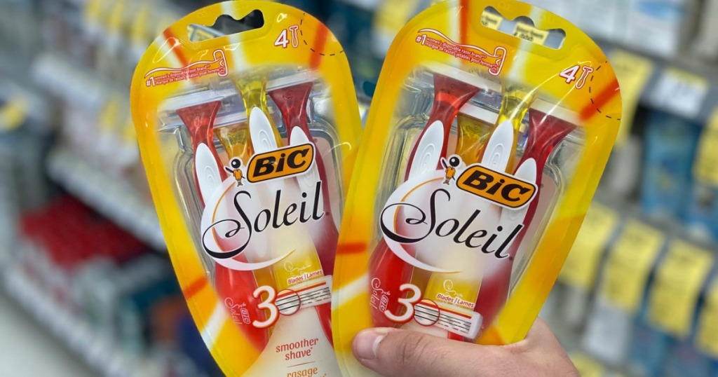 Bic Soleil Razors in Hand