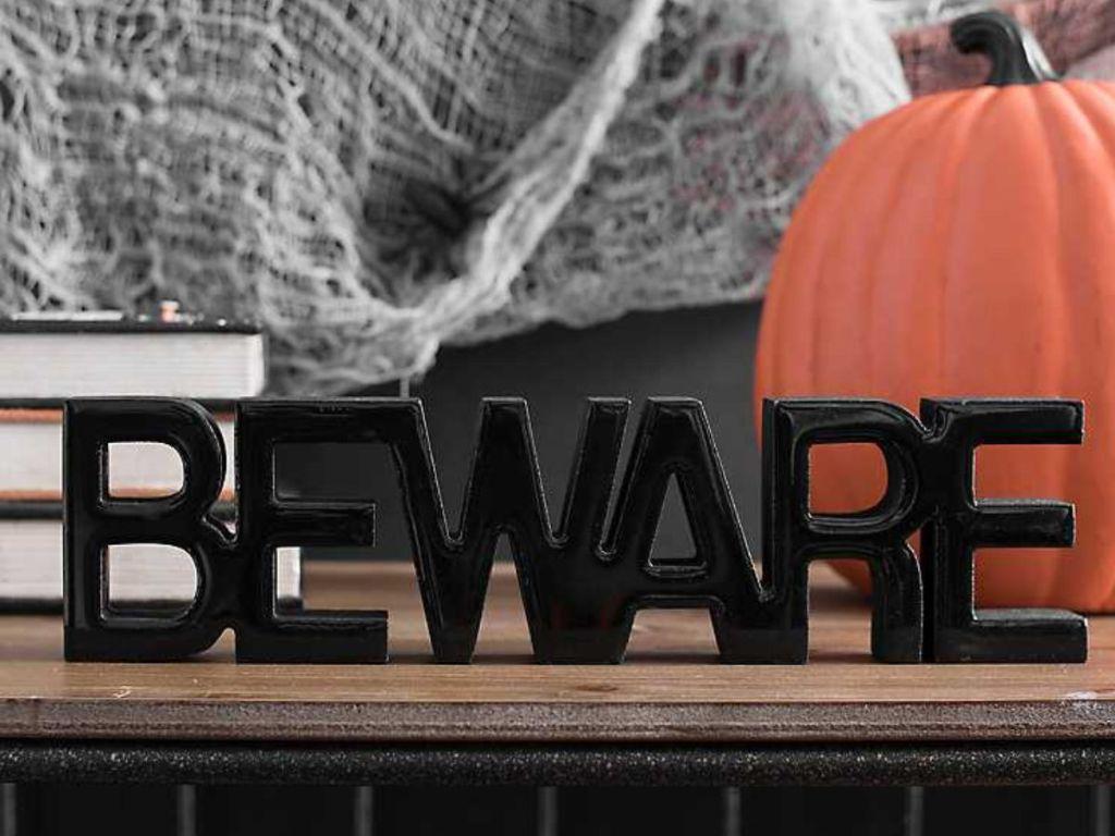 Black Beware Word Runner