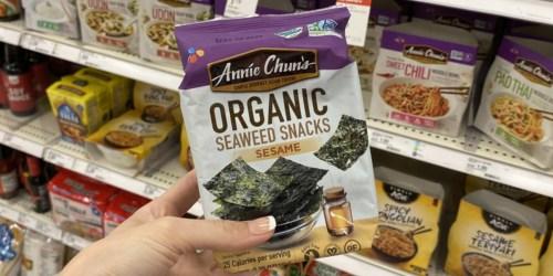 20% Off Annie Chun's Organic Seaweed Snacks at Target