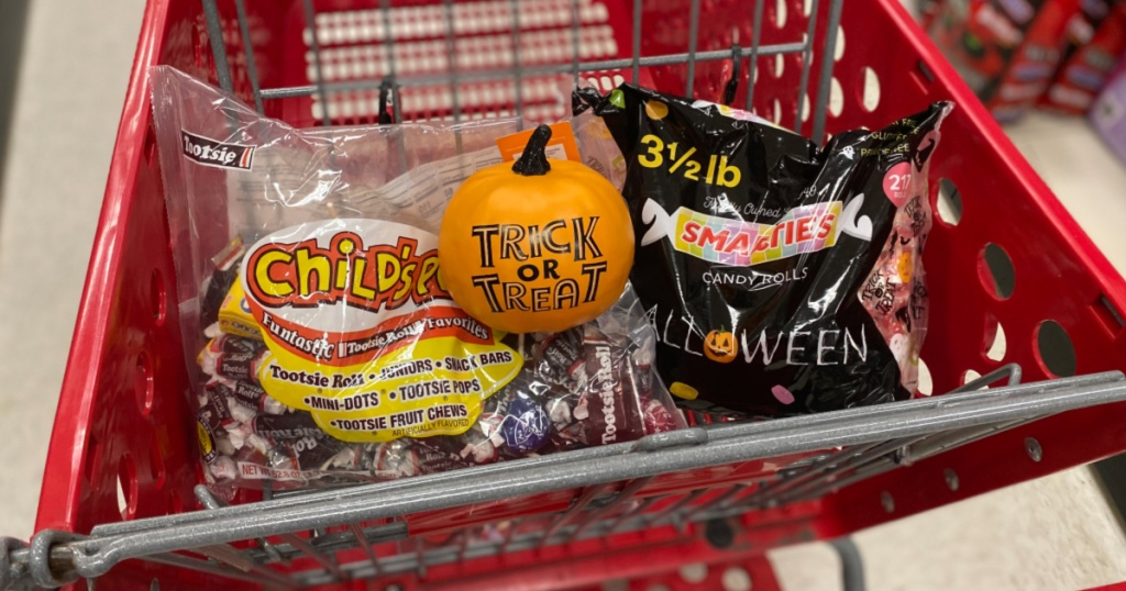 Target Halloween Candy in Shopping Cart