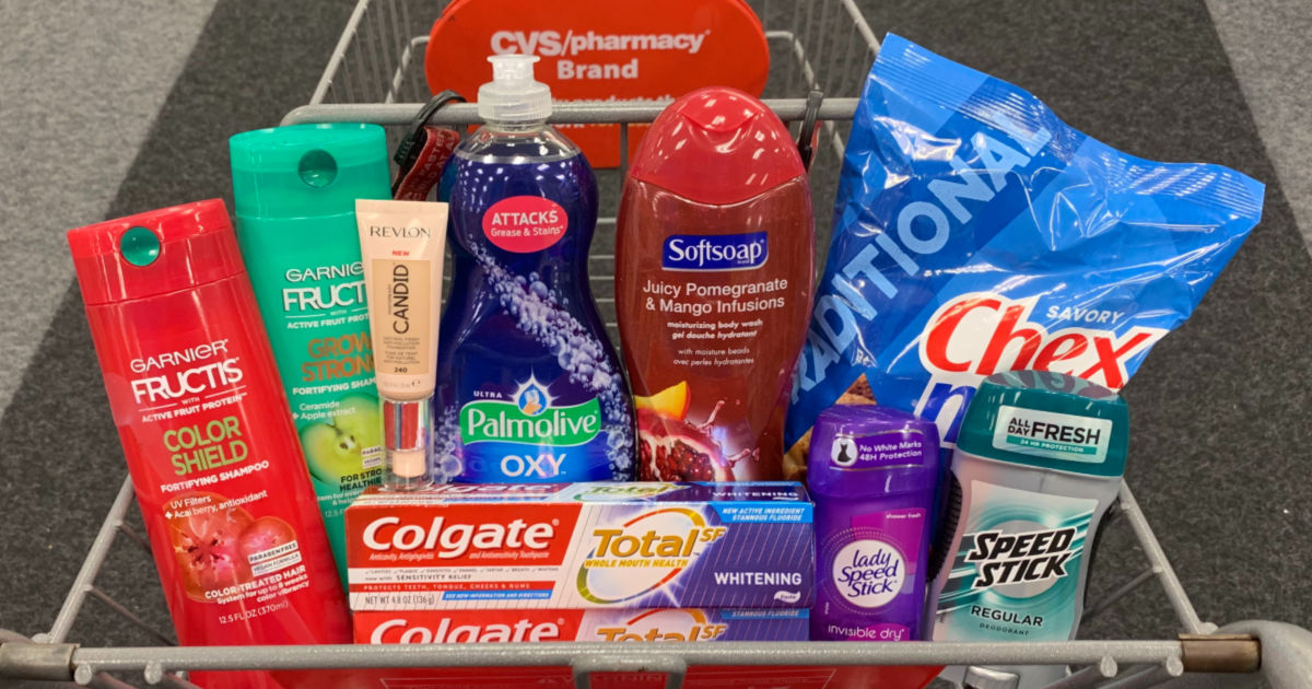 Products in a cart at CVS