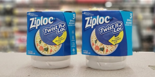 TWO Ziploc Twist n' Lock Container 3-Packs Just $2.22 w/ Free Walgreens Store Pick-up