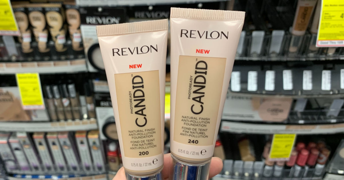 Revlon concealer in front of shelf