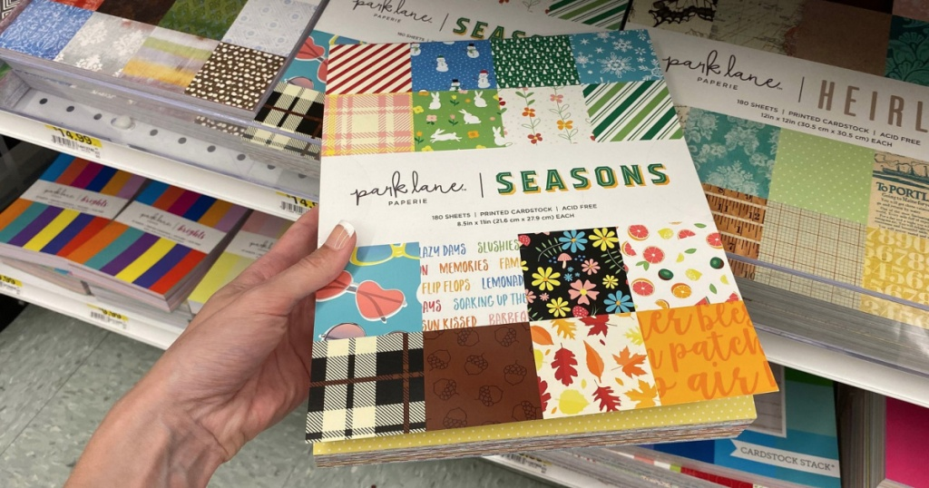 Parklane Seasons Scrapbook paper at Joanns