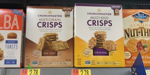 New $1/1 Crunchmaster Crackers Coupon = 78¢ After Cash Back at Walmart