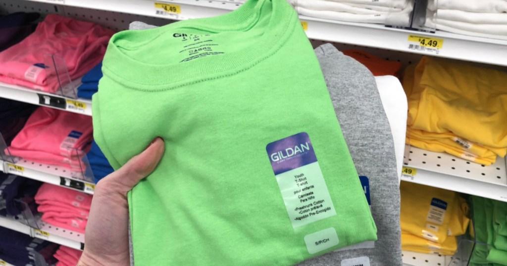 Gildan t-shirts in store
