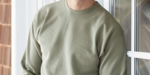 Hanes Men's Ecosmart Fleece Sweatshirt Only $5.81 at Amazon