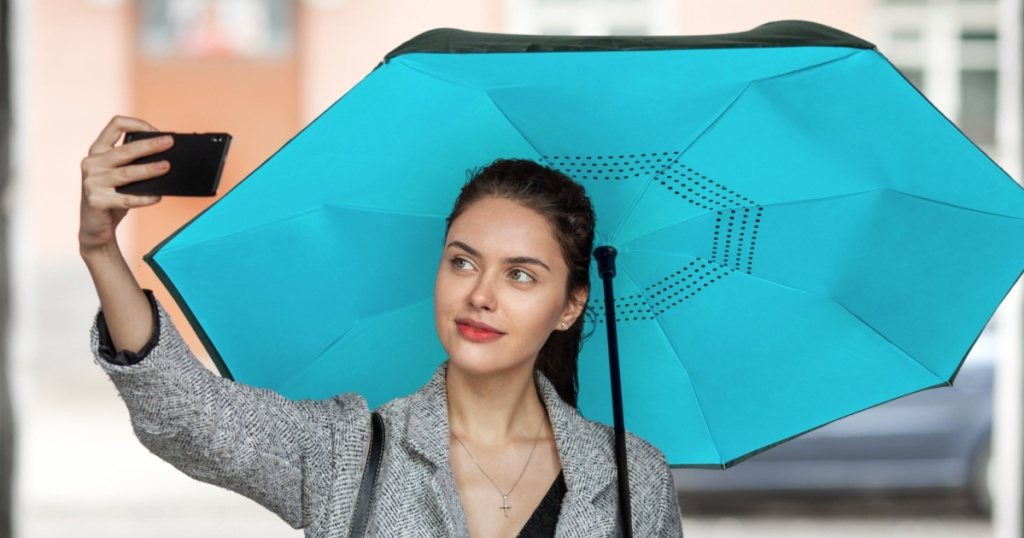 EEZ-Y Reverse Inverted Windproof Umbrella