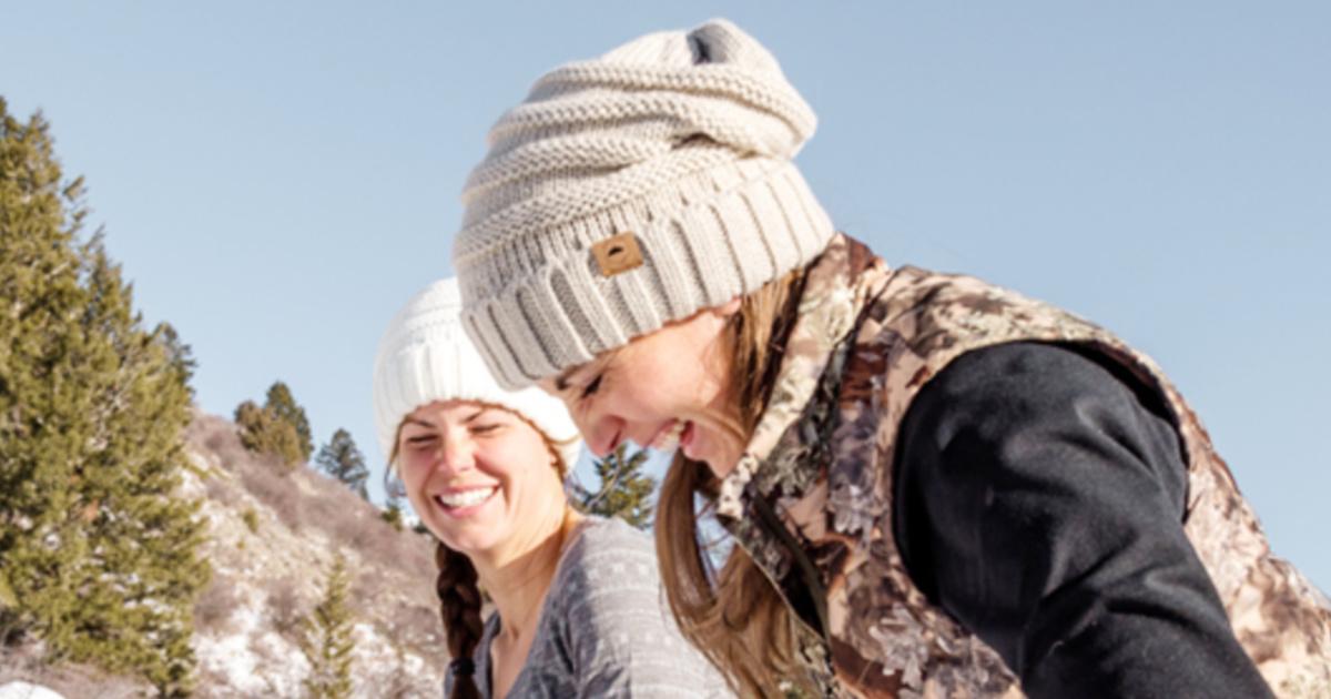 Women Wearing Slouchie Beanie Hats