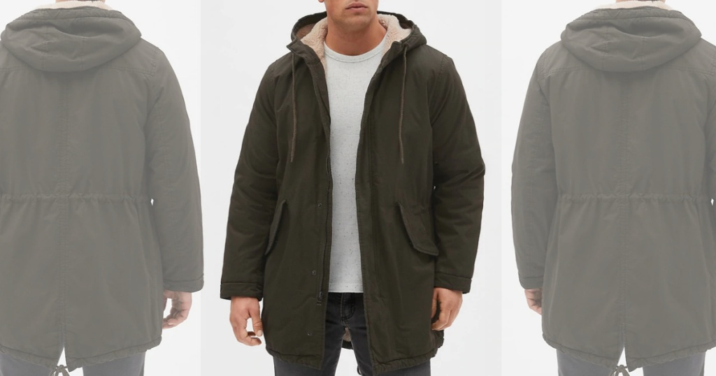 men's gap sherpa lined coat