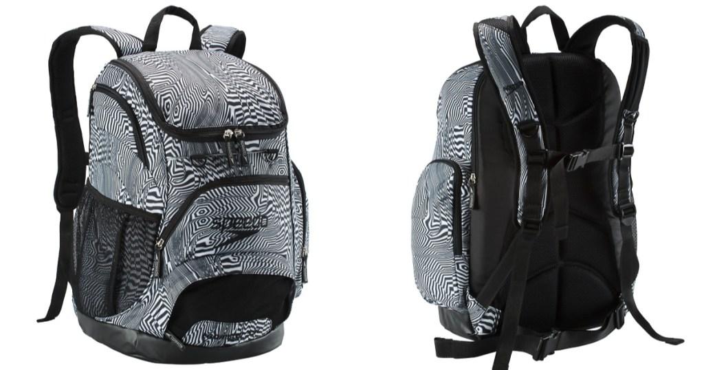 Speedo Black & White Backpack