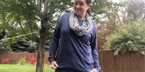Women's Crewneck Sweatshirt Tunic Only $11.39 at Amazon
