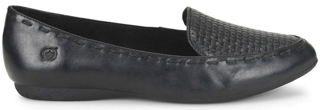 Black Maple Leather Loafer - Women Børn