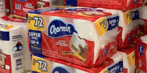 Charmin Ultra Strong Toilet Paper 12 Super Mega Rolls Only $12.98 After Target Gift Card