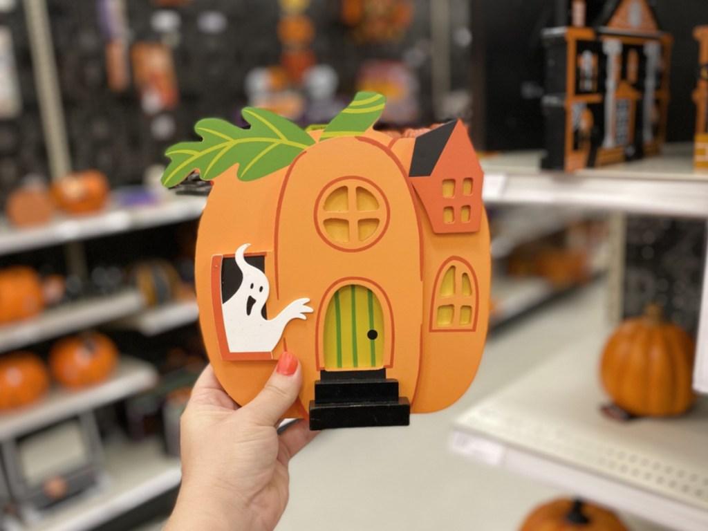 Pumpkin house Mini Mantle Decor at Target