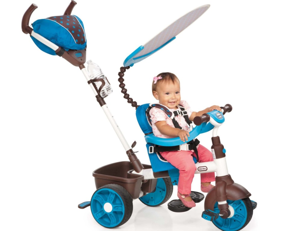 Little Girl on Little Tikes Trike