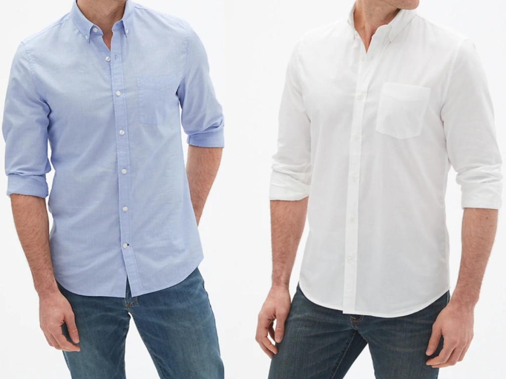 Men's Gap poplin shirt