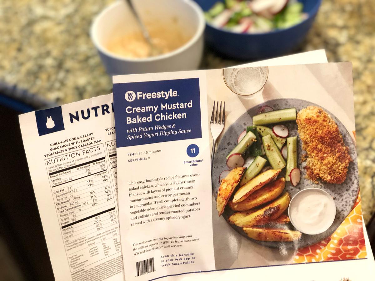 Blue Apron Freestyle menu card