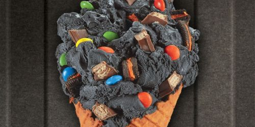 Sink Your Fangs Into Boo Batter Ice Cream at Cold Stone Creamery | Contains Oreos, Kit Kats & M&M's
