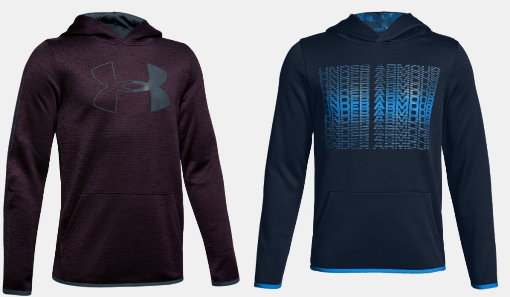 Under Armour hoodies for boys in two styles