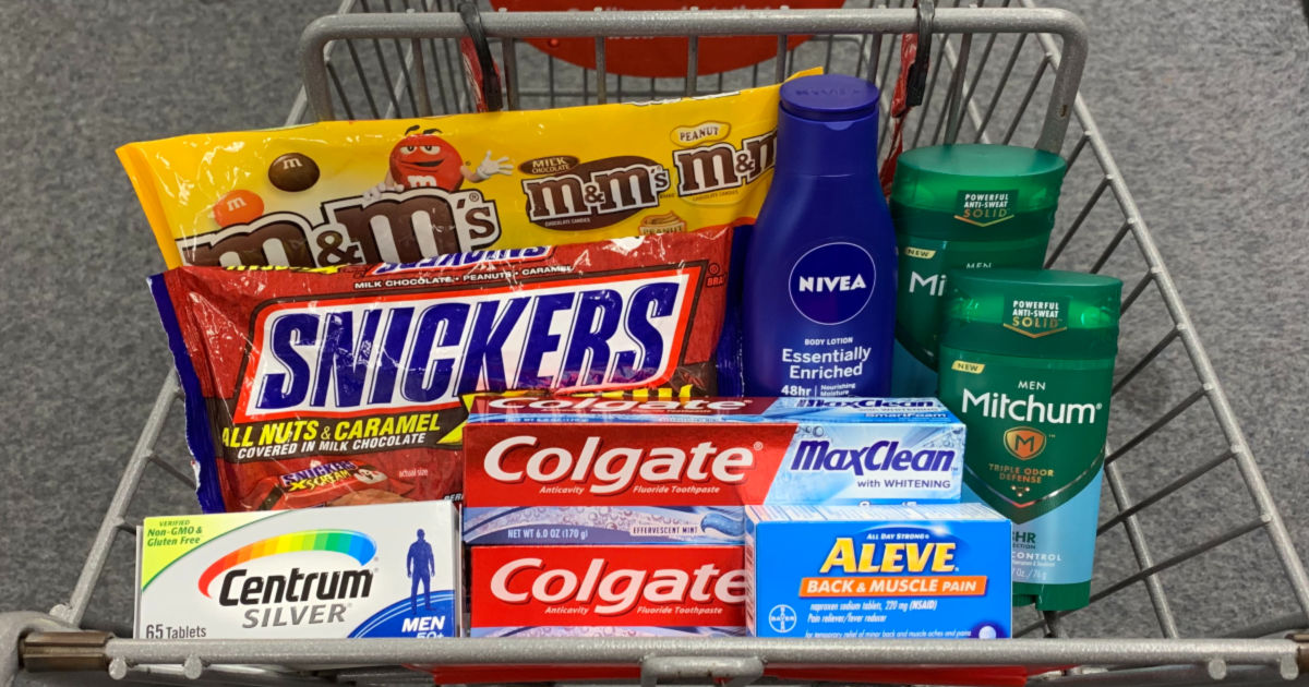 Grocery and Household products in basket